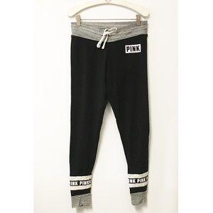 PINK VS Yoga black gray jogger sweatpants MEDIUM